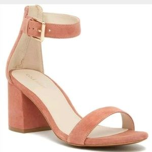 Cole Haan NWB 9.5 Clarette Sandals Pink Suede